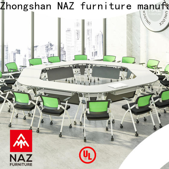 movable u shaped conference table ft010c on wheels for meeting room