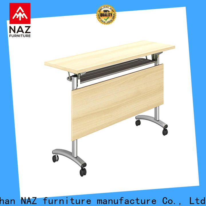 writing training tables and chairs trapezoid with wheels for office
