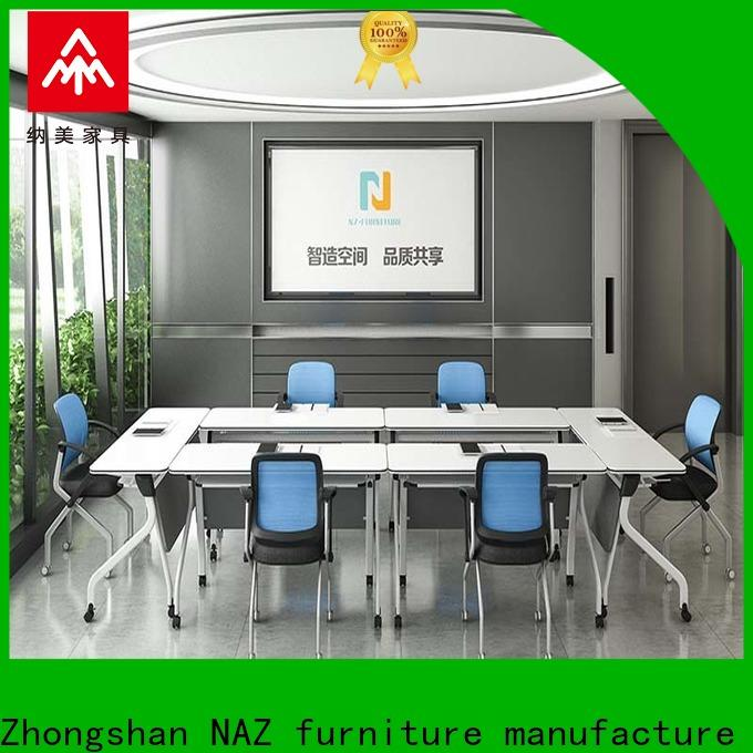 comfortable foldable office furniture ft013c on wheels for meeting room