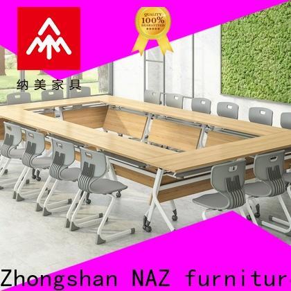 NAZ furniture movable modular conference table design on wheels