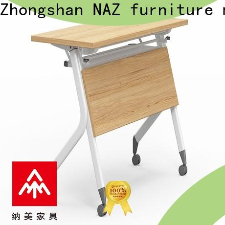 professional training desk wooden with wheels for office