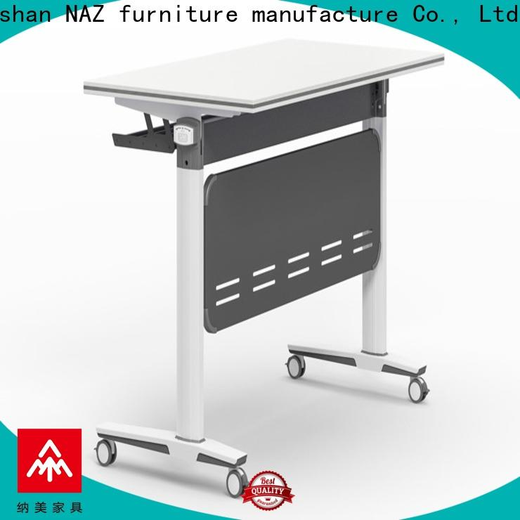 NAZ furniture folding mobile training tables with wheels for home