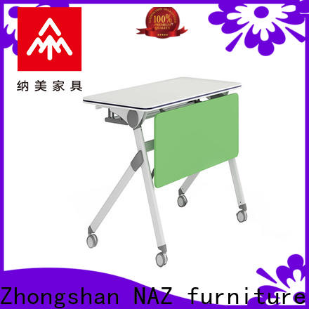 NAZ furniture wheels aluminum training table for conference for school