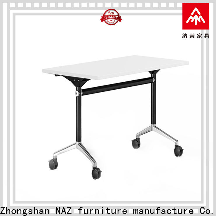 NAZ furniture fahsion conference training tables with wheels for school