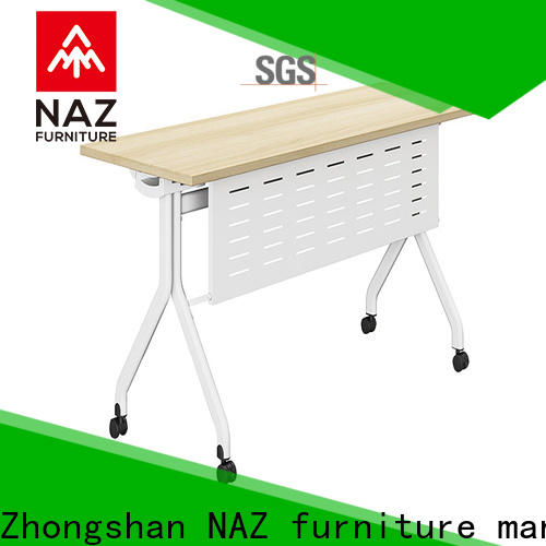 NAZ furniture writing training desk with wheels for meeting room