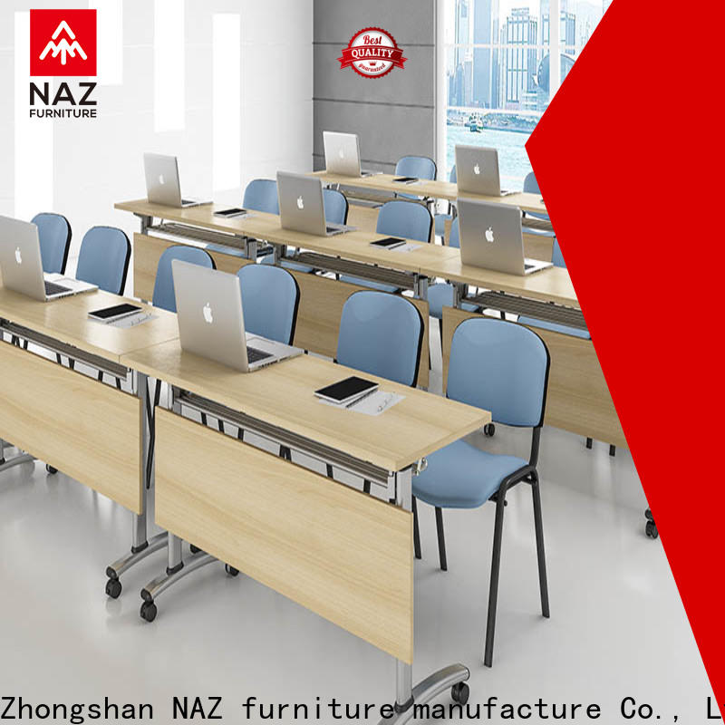 NAZ furniture ft002c folding conference room tables with wheels on wheels for training room