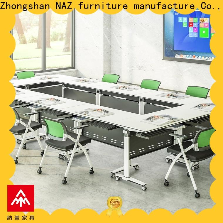 NAZ furniture comfortable 12 person conference table on wheels for meeting room