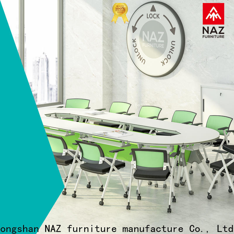 NAZ furniture professional folding conference room tables with wheels for conference for school