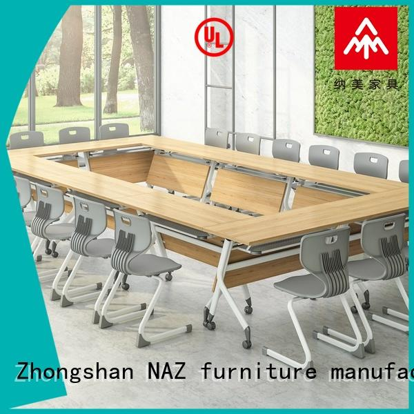 NAZ furniture end modular conference room tables on wheels for office