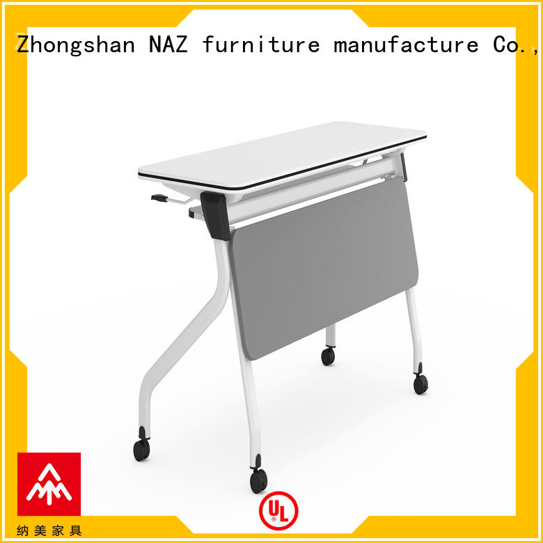 NAZ furniture save flip top training tables with wheels for meeting room