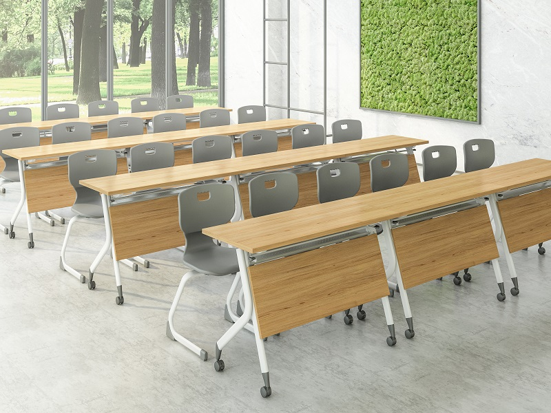 professional modular training room furniture 8001200140016001800mm with wheels for meeting room-8