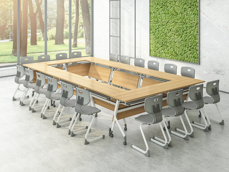 professional modular training room furniture 8001200140016001800mm with wheels for meeting room-9