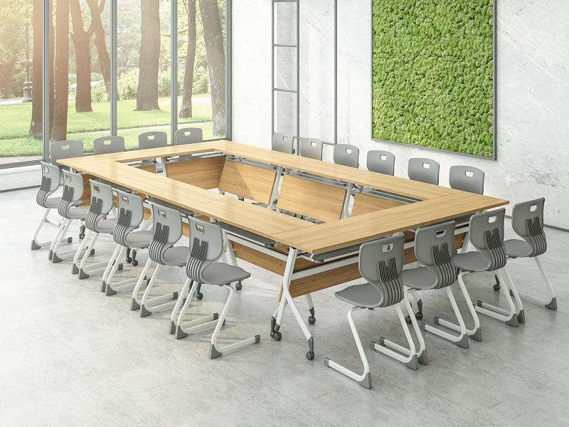 computer training tables and chairs on for conference for office