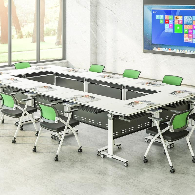Folding conference table elegant shape FT-008C 6/8/10/12/16/20Persons