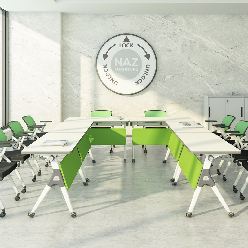 professional oval conference table ft031c on wheels for school-9