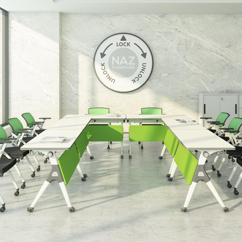 professional oval conference table ft031c on wheels for school