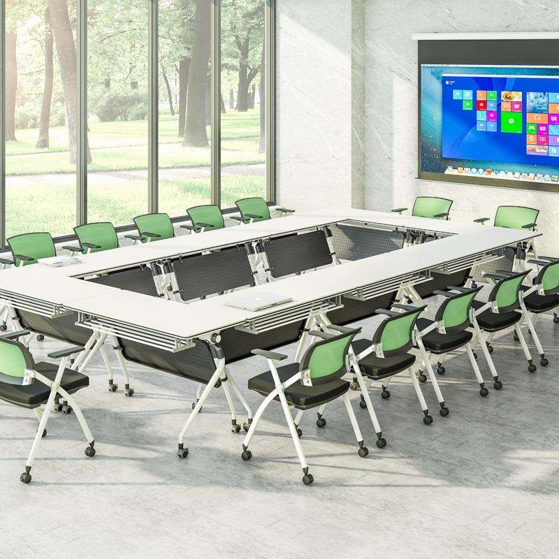 6/8/10/12/16/20 Persons Folding conference table One-click flip FT-019C