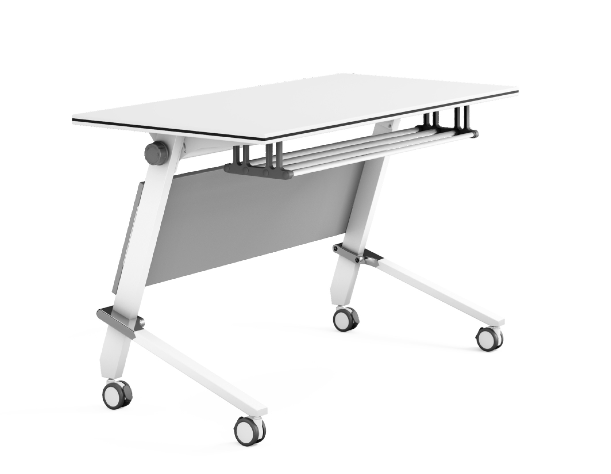 NAZ furniture computer boardroom training table with wheels-1