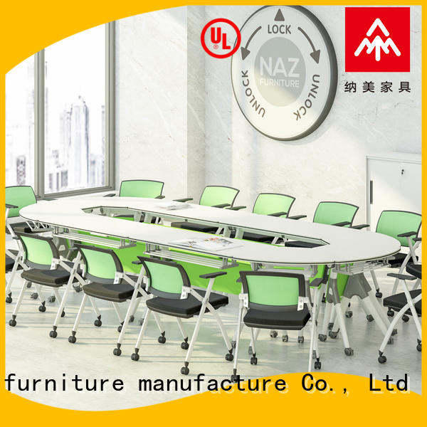NAZ furniture color meeting room table on wheels