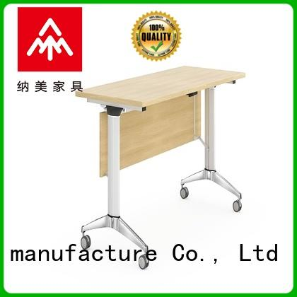 NAZ furniture panel computer training tables with wheels