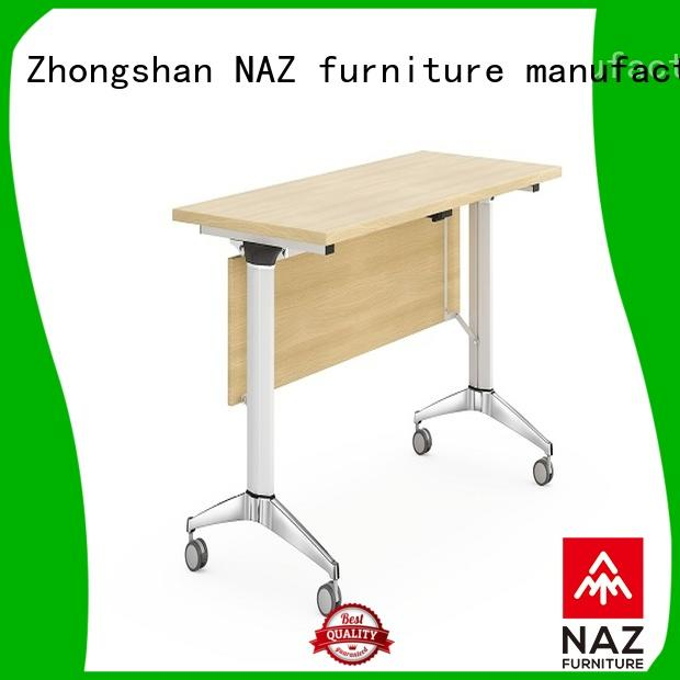 NAZ furniture professional training tables and chairs with wheels for school