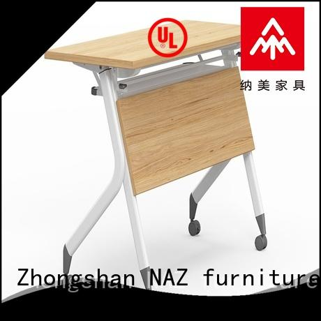 NAZ furniture trapezoid flip top training tables multi purpose