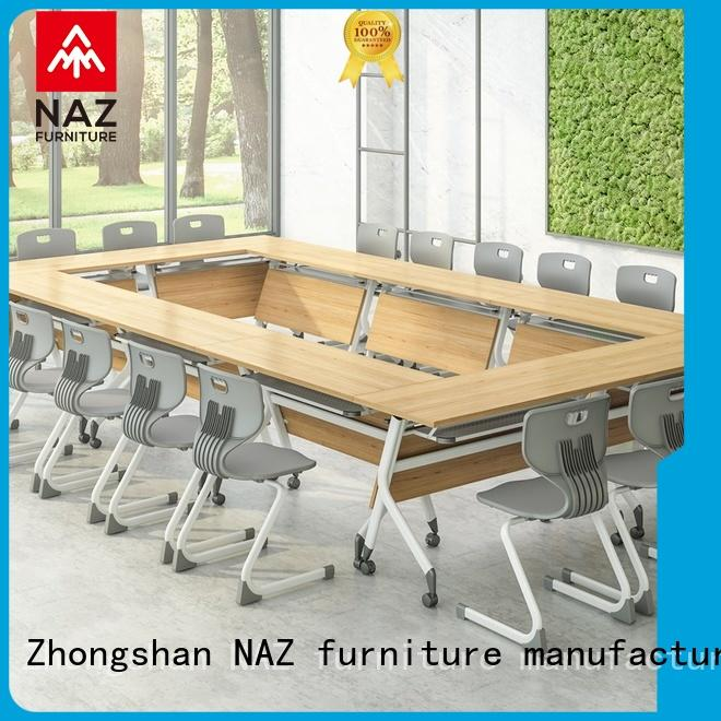 comfortable oval conference table ft012c on wheels for training room
