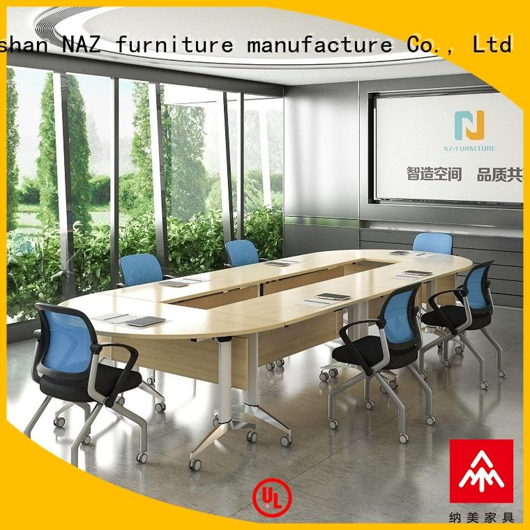 NAZ furniture folding conference table on wheels for meeting room