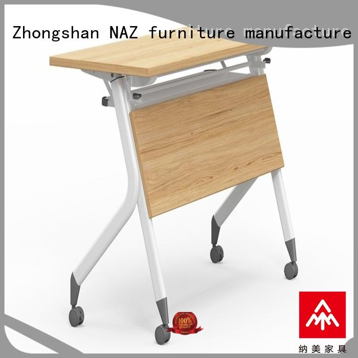 NAZ furniture writing portable training table wheels for home
