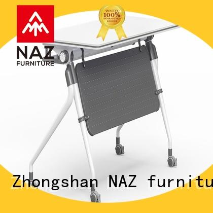 trapezoid foldable training table base with wheels for home