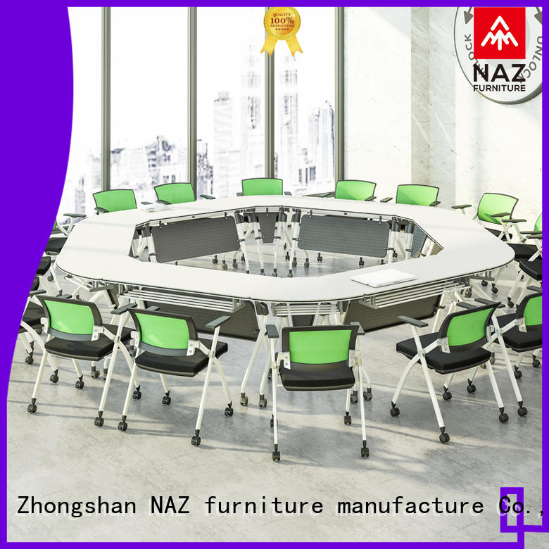 NAZ furniture design conference room table and chairs on wheels for training room
