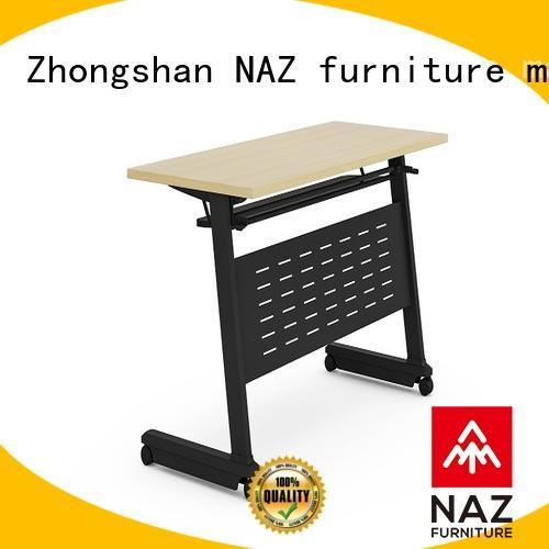 NAZ furniture aluminum flip top training tables multi purpose for school