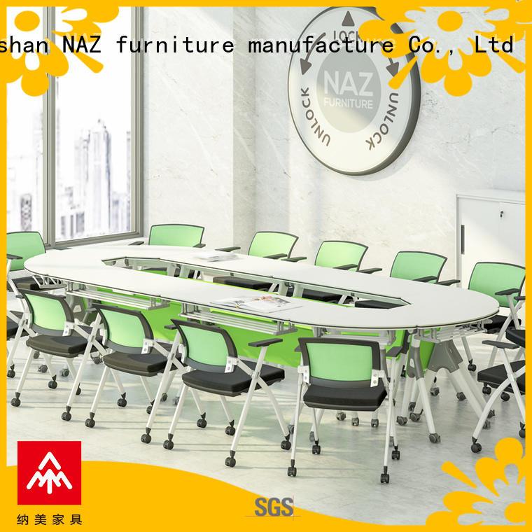 NAZ furniture durable mobile conference table manufacturer for school
