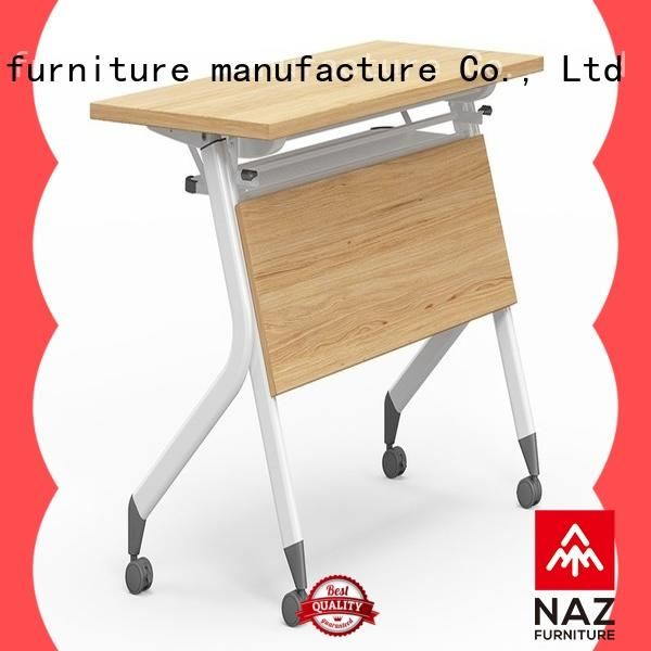 trapezoid aluminum training table ft002 with wheels for training room