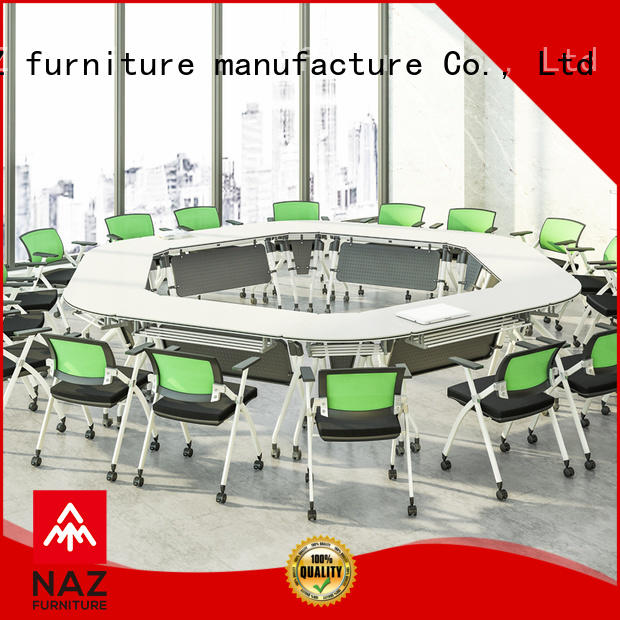 comfortable white conference table shape manufacturer for meeting room