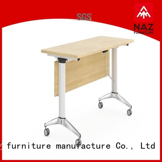 NAZ furniture professional foldable training table with wheels for training room