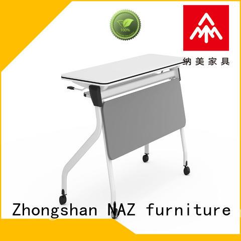 NAZ furniture trapezoid training folding table ft018