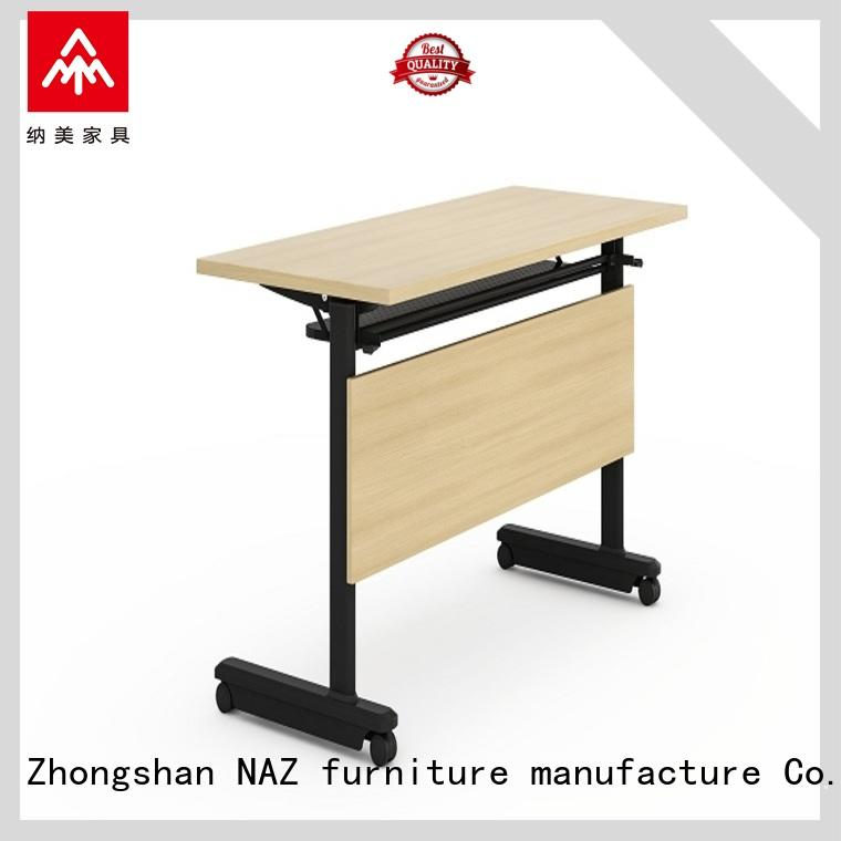 NAZ furniture trapezoid conference training tables supply for school