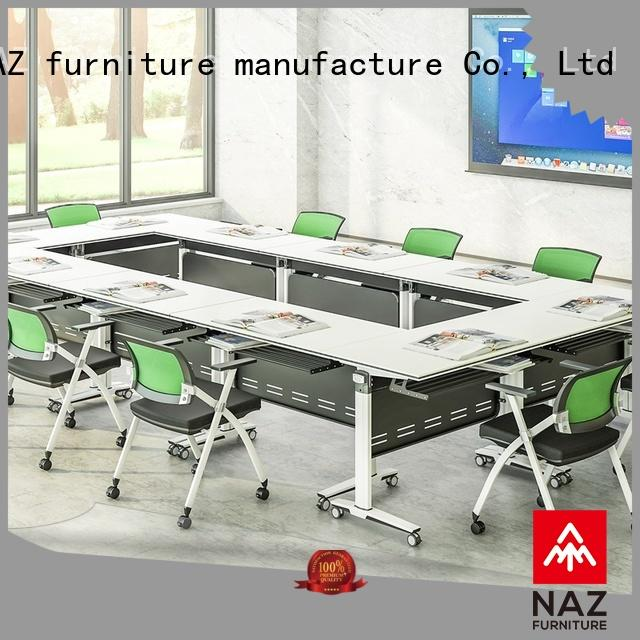 NAZ furniture comfortable flip top conference tables on wheels for school