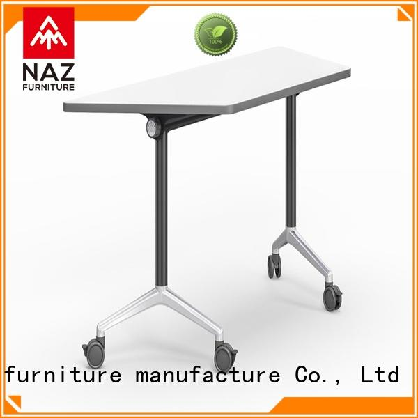 NAZ furniture wooden computer training tables with wheels for school