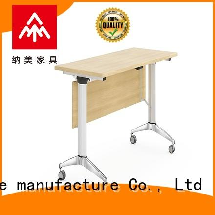 NAZ furniture trapezoid office training tables with wheels
