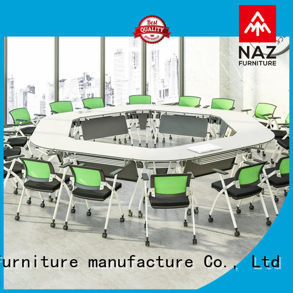 NAZ furniture movable oval conference table manufacturer for meeting room
