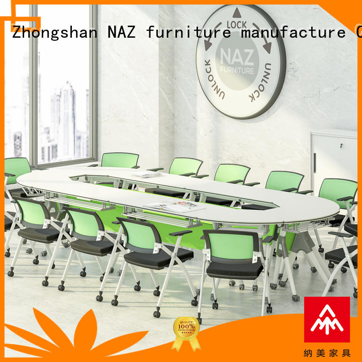 NAZ furniture conference 12 person conference table on wheels for meeting room