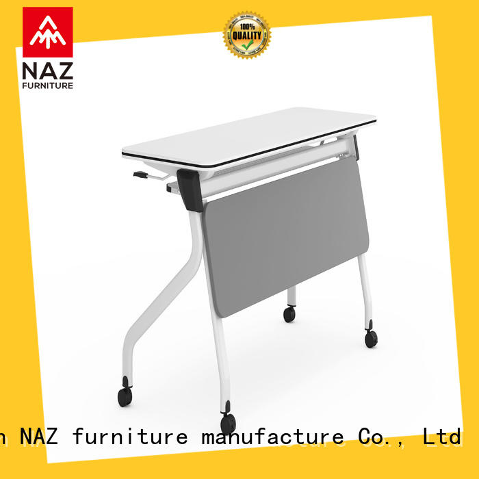 trapezoid mobile training tables castors for sale for home