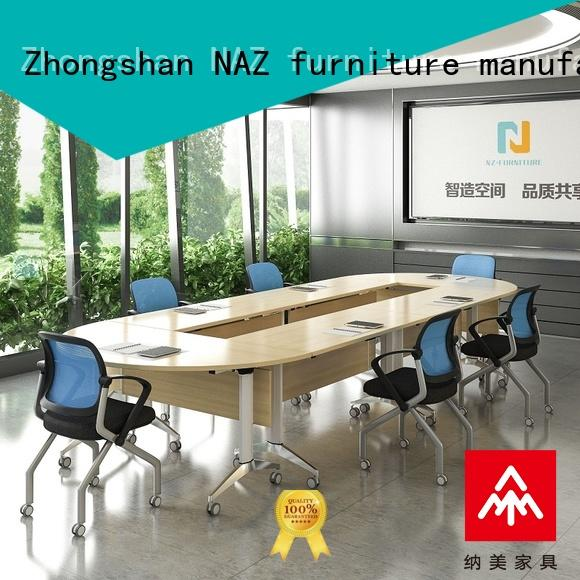 NAZ furniture professional mobile conference table manufacturer for meeting room