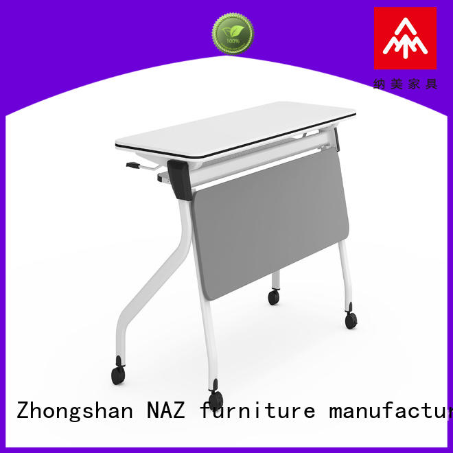 NAZ furniture nesting aluminum training table with wheels