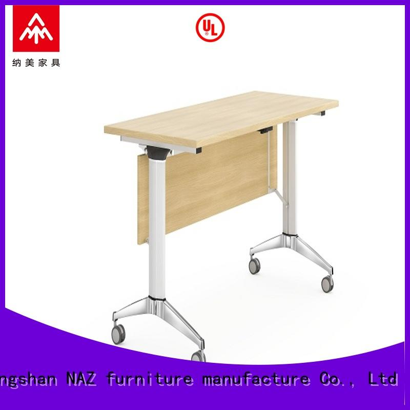 NAZ furniture trapezoid folding training table with wheels for training room