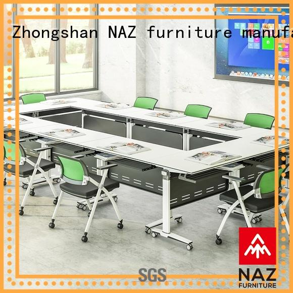 comfortable modular conference table design aluminum on wheels for office
