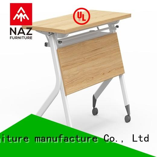 NAZ furniture trapezoid folding training table with wheels for meeting room