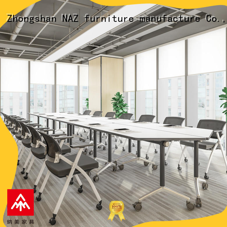 NAZ furniture ft017c portable conference room tables on wheels for training room